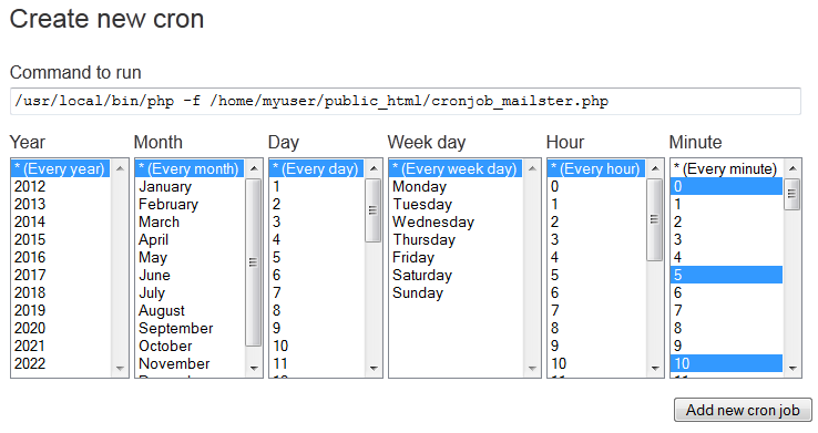 How to create cron job using PHP? - Stack Overflow