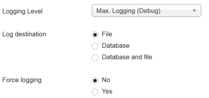 Mailster debug logging level